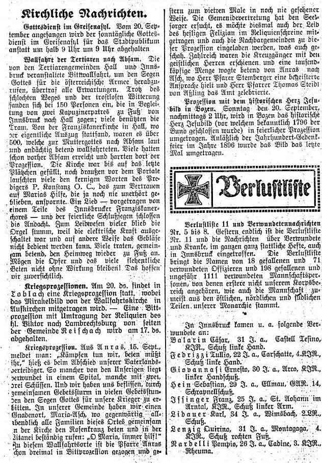 """Kriegsprozession mit dem """"Leib des heiligen Felizian im Reliquienschreine"""""""