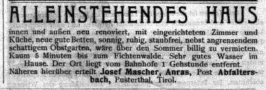 Der Fremdenverkehr, Nr. 4, 24. Mai 1908, S. 4.