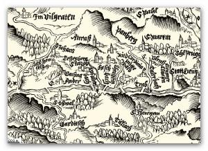 Historische Karte Anras