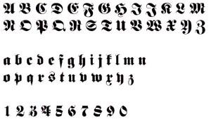 Alphabet Zahlen Alt Deutsch