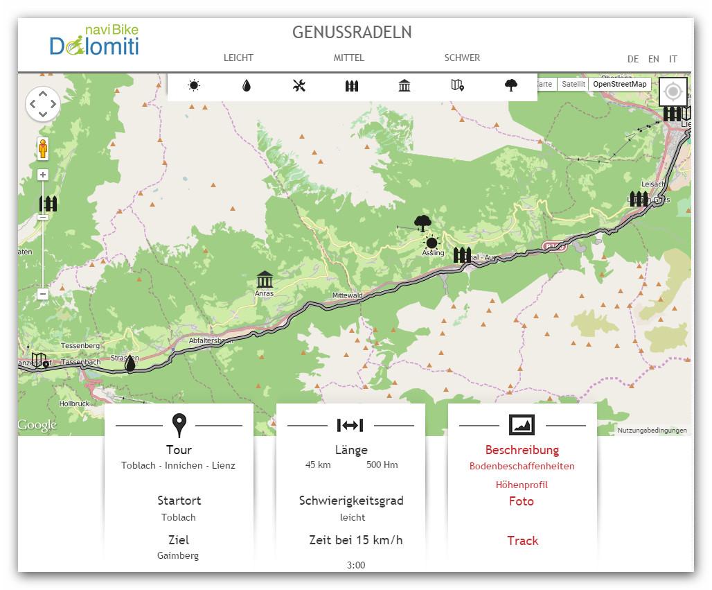App eBike Dolomiti