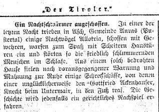 Schreckschuss trifft Knecht vom Untermair - Der Tiroler, Nr. 20, Jg. 33, 14. Februar 1914, S. 3